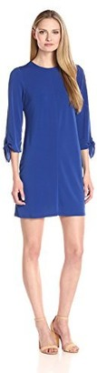 Ronni Nicole Women's Tie Sleeve Textured Jersey Shift