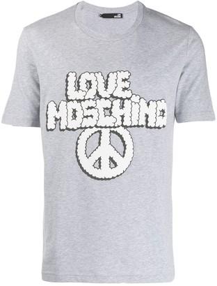 Love Moschino printed logo T-shirt