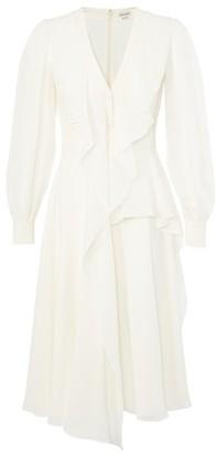 Alexander McQueen Midi dress in silk