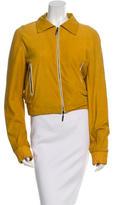 Roberto Cavalli Suede Bead Embellished Jacket