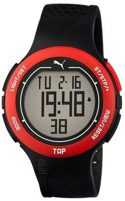Puma Time Touch Men's Quartz Watch with LCD Dial Digital Display and Black Plastic Strap PU911211001