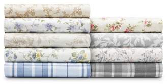 Laura Ashley Printed Pattern Flannel Sheet Set