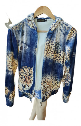 Roberto Cavalli Blue Velvet Leather jackets