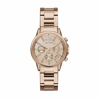 Armani Exchange Women's Chronograph Quartz Watch with Stainless Steel Strap AX4326