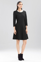 Josie Natori Double Knit Jersey Dress