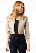 Urban Outfitters Urban Renewal Cropped Linen Blazer