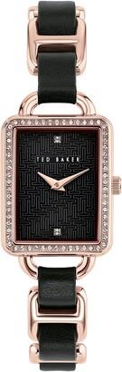 Ted Baker Primrose Leather Link Bracelet Watch, 24mm x 30mm
