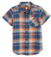 Tea Collection Toddler Boy's Cooper Plaid Shirt