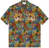 Gucci Floral print silk bowling shirt