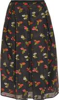Erdem Ina fil coupé silk-organza skirt