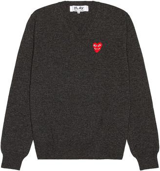 Comme des Garcons V-Neck Pullover in Grey | FWRD