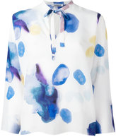 Cacharel blurry print longsleeved blouse - women - Silk - 40