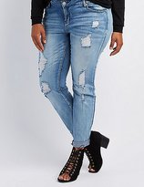 Charlotte Russe Plus Size Refuge Skinny Boyfriend Jeans