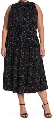 Leota Aria Floral Dot Jersey Midi Dress (Plus Size)