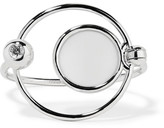 Eddie Borgo Voyager Silver-plated, Howlite And Cubic Zirconia Cuff - one size