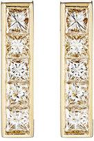 Jennifer Meyer Women's White Diamond Vertical-Bar Stud Earrings