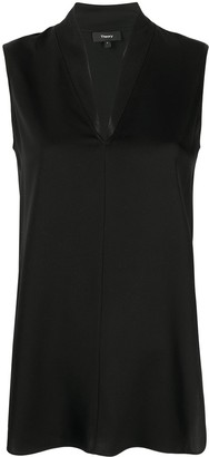 Theory V-neck sleeveless blouse