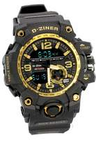 D-ZINER Men's Large Digital Military Army Watch with dial
