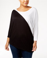INC International Concepts Colorblocked Dolman-Sleeve Top, Created for Macy's