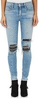 AMIRI Women's Distressed Skinny Moto Jeans