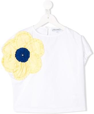 Simonetta embroidered flower T-shirt