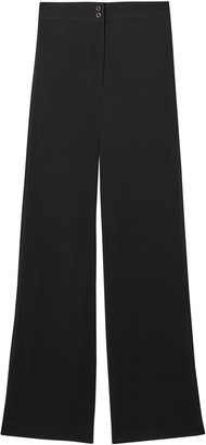 Burberry High-Rise Wide-Leg Trousers