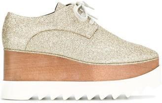 Stella McCartney glitter Elyse platform shoes