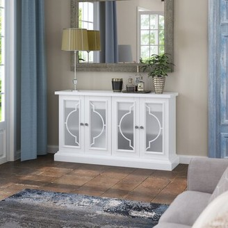 "Rosdorf Park Tompkins 56"" Wide 2 Drawer Sideboard Color: White"