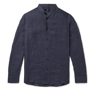 HUGO BOSS Jordi Grandad-Collar Linen Shirt