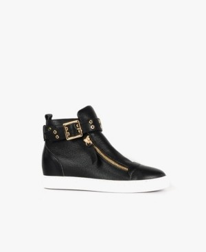 All Black Hi Belt Zip Sneaker Women's Shoes
