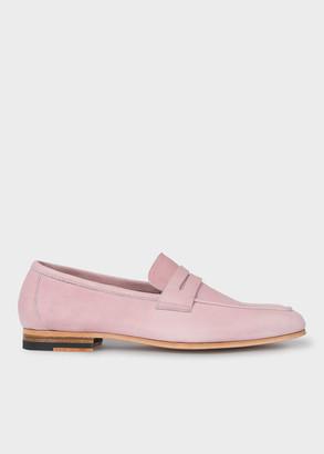 Paul Smith Women's Dusky Pink Leather 'Glynn' Loafers