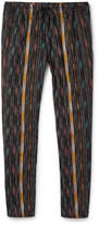Saint Laurent - Tapered Striped Cotton And Silk-blend Trousers