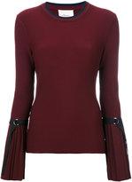 3.1 Phillip Lim pleated cuff sweater - women - Spandex/Elastane/Viscose - XS