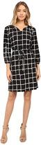 Christin Michaels Lafayette Grid Print Dress