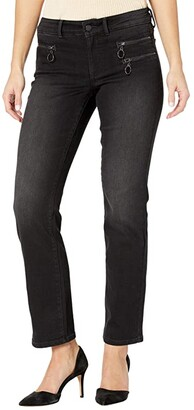 NYDJ Petite Petite Marilyn Straight Jeans with Hip Zippers in Glory (Glory) Women's Jeans