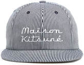 MAISON KITSUNÉ Men's Baseball Cap Striped Hat Navy Stripe