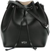No.21 logo bucket shoulder bag - women - Leather - One Size