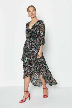 Coast V Neck High Low Midi Dress