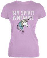 Old Glory My Spirit Animal Unicorn Lilac Juniors Soft T-Shirt
