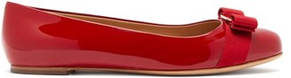 Salvatore Ferragamo Varina Patent-leather Ballet Flats - Red