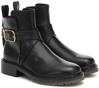 Chloé Franky leather ankle boots