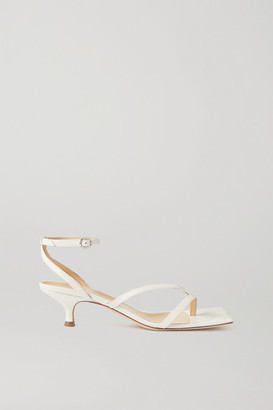 A.W.A.K.E. Mode Delta Low Leather Sandals - White