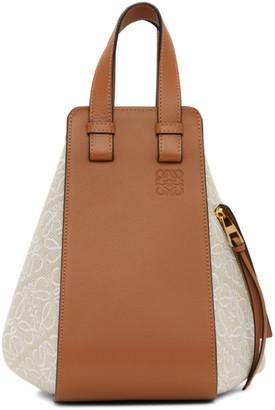 Loewe Tan Small Anagram Hammock Bag