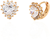 Sweet & Soft Gold Stud Earrings With Crystals From Swarovski®