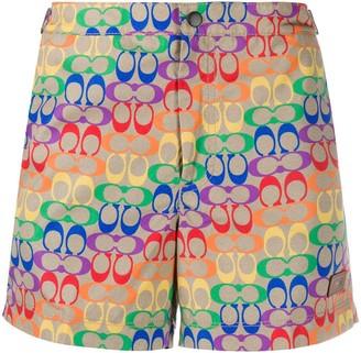 Coach Rainbow Signature swimming shorts