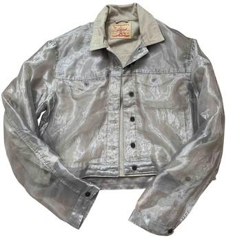 Y/Project Beige Denim - Jeans Leather Jacket for Women