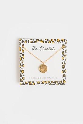 francesca's The Cheetah Coin Pendant Necklace - Leopard
