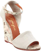 Charlotte Olympia Mischievous Canvas Wedge Sandal