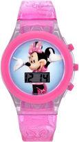 Character Girls Pink Strap Watch-Mbt3736jc
