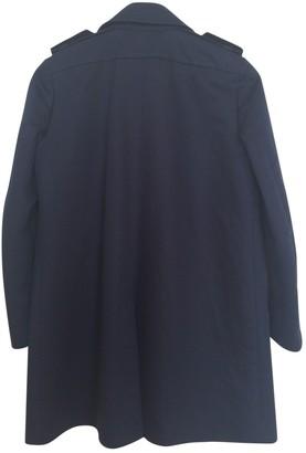 Sandro Blue Cotton Trench Coat for Women